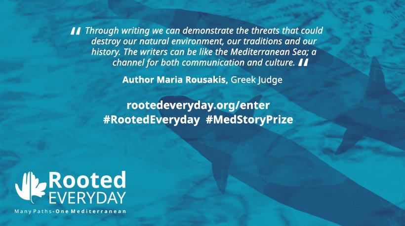Three Greek writers on the shortlist for the Rooted Everyday #MedStoryPrize 2019